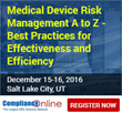 ComplianceOnline Announces Seminar on Medical Device Risk Management