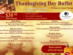 DoubleTree Grand Junction Thanksgiving Buffet Menu