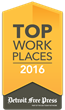 RGBSI Awarded 2016 Top Workplaces Honor by Detroit Free Press