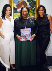 Crystal McCrary, author, producer and reception co-host; Sandra L. Richards, author of Rice & Rocks; and Kimberely Hatchett, private wealth advisor and co-host.