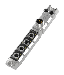 With their robust IP67 housing and slim design, these industrial Ethernet based IO-Link masters can be mounted directly on the machine.