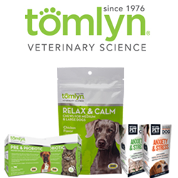 Tomlyn Relax & Calm Chews, Tomlyn Pre & Probiotic Water Soluble Powder, and Natural Pet Pharmaceuticals Anxiety & Stress for Dogs and Cats
