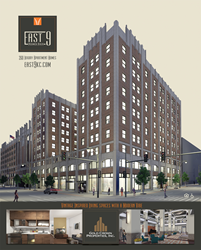 East 9 at Pickwick Plaza, Downtown Kansas City's spectacular new multi-use community, offering vintage inspired living spaces with a modern vibe.