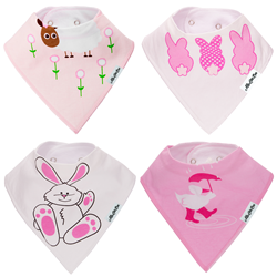 Baby Bandana Bibs 4-Pack Set by My Little Bee