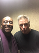 Co-Author Aswaad English with Alec Baldwin Backstage on Saturday Night Live November 20, 2016