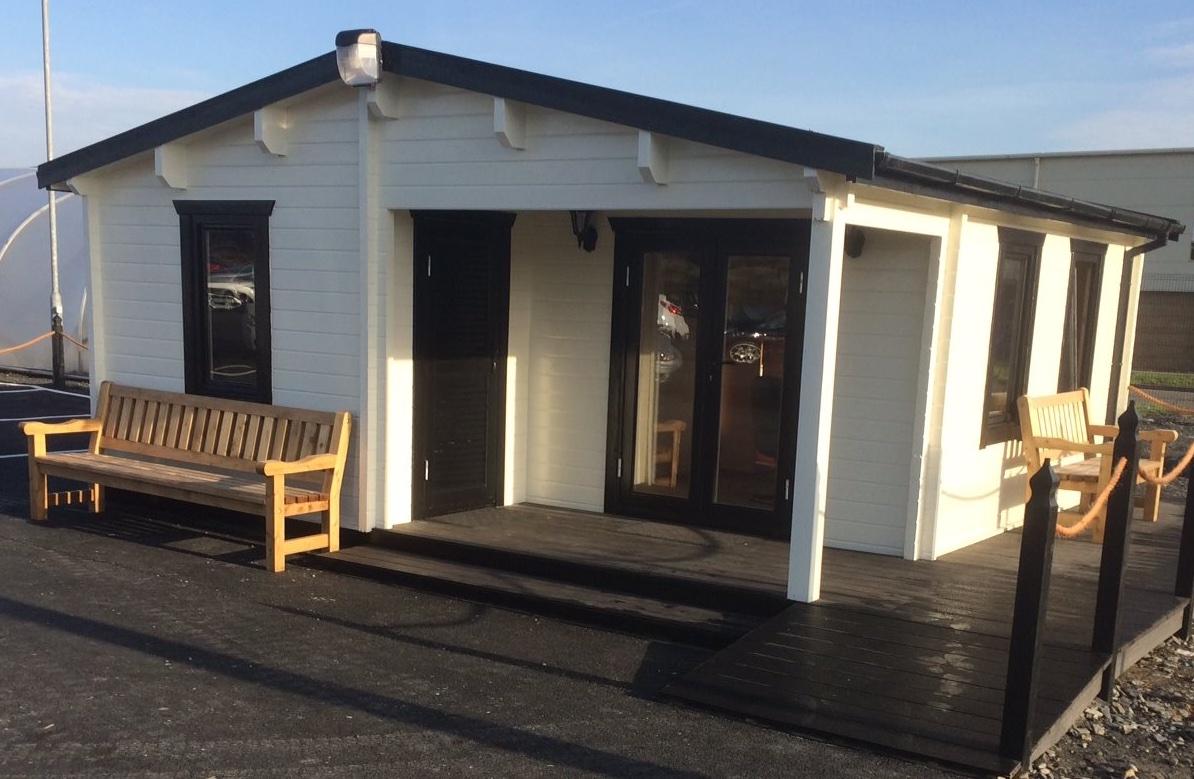 Eurodita surprises log cabin industry with super sized for Bespoke garden office