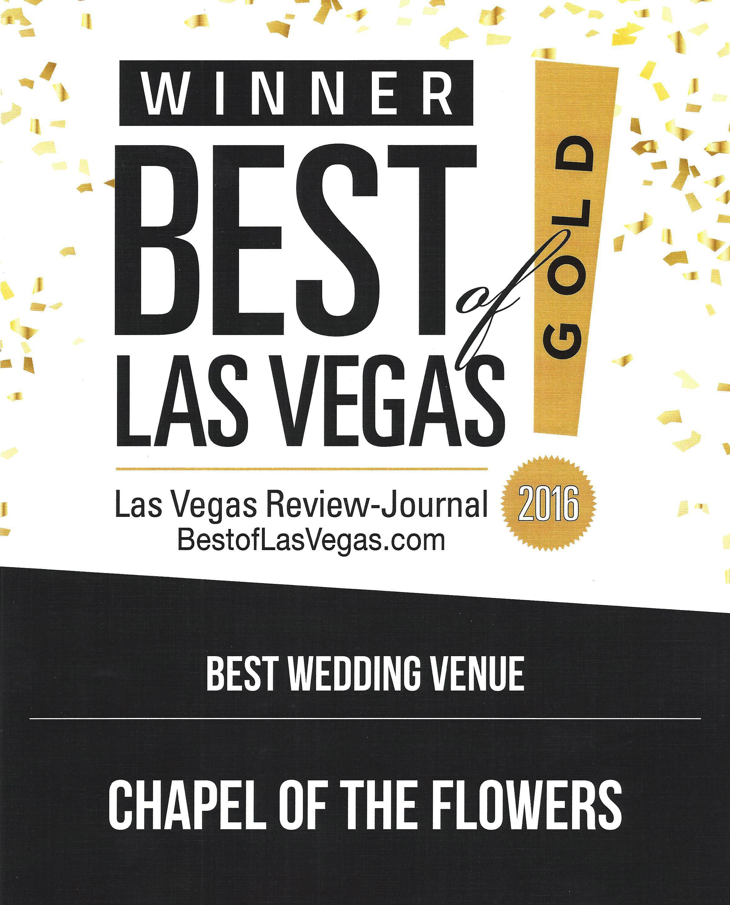 "Chapel of the Flowers Named ""Best Wedding Venue"" in Las Vegas"