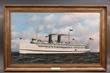 "Antonio Jacobsen oil of ""Massachusetts"" at auction December 3rd"