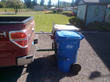 These two wheeled trash cans can then be easily driven over any surface without any effort on part of the user.