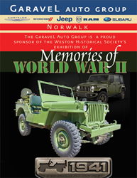 Garavel Chrysler Dodge Jeep Ram and the Weston Historical Society celebrate the 75th anniversary of the start of WWII.
