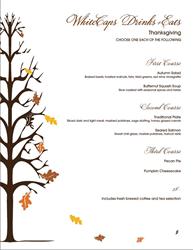 2016 WhiteCaps Drinks + Eats Thanksgiving Menu