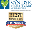 "U.S. News & World Report Recognizes Van Dyk Health Care at Ridgewood as One of America's ""Best Nursing Homes"" in 2016-17"