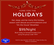 Hampton Golden Home for the Holidays Package