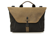 Staad Attaché — black ballistic nylon with grizzly leather flap