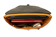 Staad Attaché interior —custom padded compartment for MacBook Pro, Apple Pencil pocket, and space for necessities