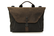 Staad Attaché —black ballistic nylon with chocolate leather flap
