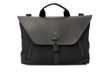 Staad Attaché —black ballistic nylon with black leather flap option