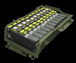 Revision's Nerv Centr™ SWatPack™ Silent Watch Vehicle Battery (shown open) is modular, scalable, and features interoperable SWatPack units for reliable, redundant power backup.