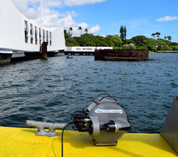 Deep Trekker DTG2 mini ROV Ready to be deployed on USS Arizona