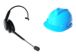 This invention is a blue cap that is equipped with video playback features and a communications headset device.