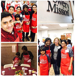 Dr. Arvind Philomin of Esthetix Dental Spa and his family served Thanksgiving dinners at the Bowery Mission.