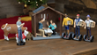 """New """"Modern Nativity"""" Set Reimagines the Birth of Jesus in the Age of iPhones and Man Buns"""