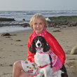 """Author Bridget Burton and Springer Spaniel Annie"" ""Author of the children's book Annie Kai Lani Kai Lou: Kauai's Beloved Pup"""