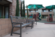 Comfortable site amenities allow parents to observe their children at play