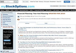 Tax effects of employee stock options