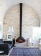 Paxfocus - Wall-Mounted Wood Fireplace by Focus Fires