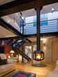 Agorafocus 850: Modern Suspended Fireplace by Focus Fires