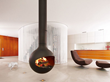 Bathyscafocus Modern Suspended Fireplace by Focus Fires