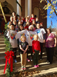 ETC staff, students and host families decorate the towns Christmas trees in Warrenton, Virginia