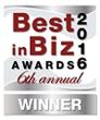 Best in Biz Awards 2016 silver winner logo
