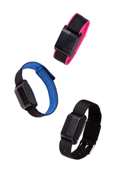 RE-vibe anti-distraction wristband with velcro or buckle band