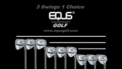 EQUS golf clubs were conceived as a continuous design throughout the entire iron set. Using three identically matched combinations, these irons project a definitive style, simple and pure, devoid of eccentricities or flare, matched for multiple variables,