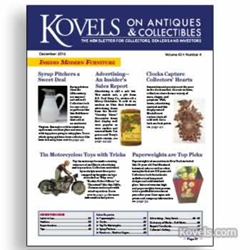 kovels, antiques, collectibles, prices, paperweights, Kagan, syrup, toy motorcycles