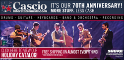Musician Stocking Stuffers Gift Suggestions for the Musicians in Your Life for the 2016 Holiday Shopping Season, from Cascio Interstate Music.