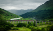 Participants will ride an historic steam train across Glenfinnan Viaduct in Scotland.