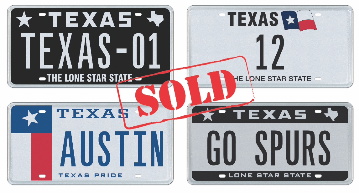texas license plate auction attracts high bids. Black Bedroom Furniture Sets. Home Design Ideas