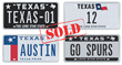 Texas License Plate Auction Attracts High Bids