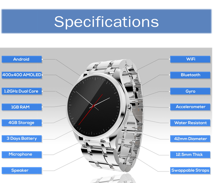 Health, Fitness-Tracking Cronovo Smartwatch Makes Time ...