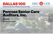 "Penrose Senior Care Auditors Wins ""2016 Dallas 100™ Entrepreneur Award"""