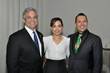 Austin Mayor Steve Adler, Lourdes Zahos of the Austin Convention Visitor's Bureau and GAHCC Pres. & CEO Mark Madrid