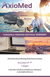 AxioMed Visits Germany for Informational Meetings and Workshops