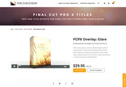 FCPX Plugin - FCPX Overlay Glare - Pixel Film Studios