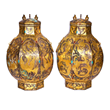 A pair of ancient gold zun with diamond dhips expected to bring $1.5M at Gianguan Auctions on December 10th.