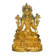 Rare Gilt Tara With Original Blue Pigment.