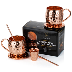 Riches & Lee Moscow Mule Copper Mugs Set
