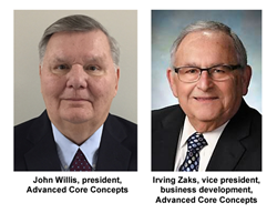 John Willis, president, and Irving Zaks, vice president, business development, of Advanced Core Concepts